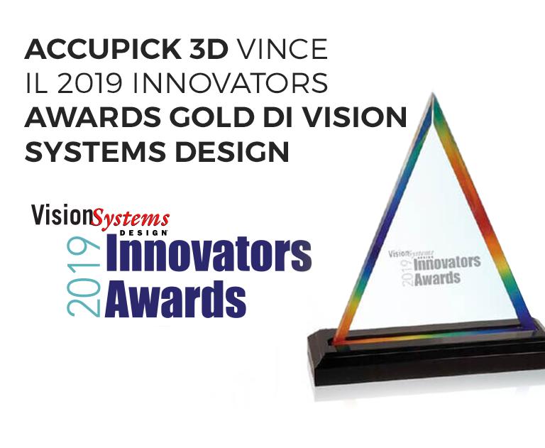 AccuPick 3D, il sistema di visione di Solomon, vince il 2019 Innovators Awards Gold di Vision Systems Design