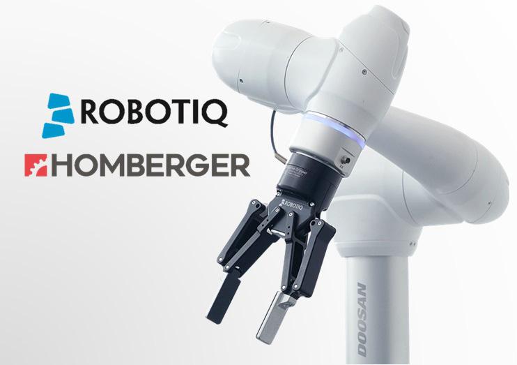 Homberger diventa distributore Robotiq per i cobot Doosan Robotics