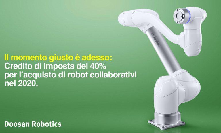 Credito di Imposta del 40% per l'acquisto di robot collaborativi nel 2020