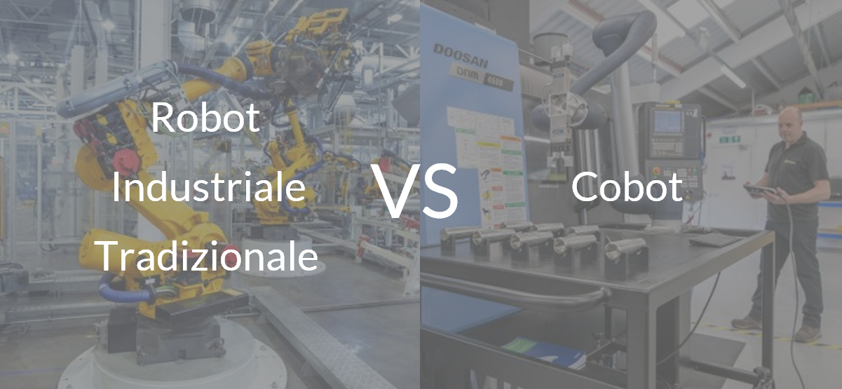 Differenze tra i robot industriali tradizionali e i cobot.